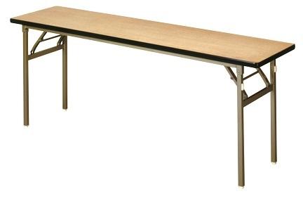 【送料無料】W1800×D450×H700mm レセプションバネ脚折畳式テーブル