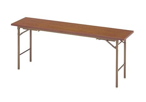 【送料無料】W1800×D750×H330/700mm 座卓兼用折りたたみ会議テーブル(チーク柄)