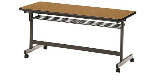 【送料無料】W1800×D600×H700mm 前折れ会議テーブル
