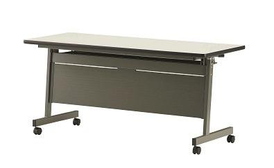 【送料無料】W1800×D600×H700mm ハネアゲ会議テーブル(樹脂パネル付)