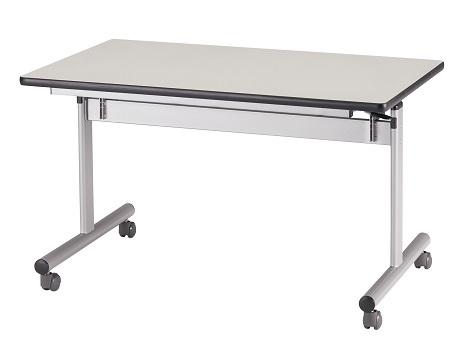 【送料無料】W1500×D750×H700mm 中折れ会議テーブル(棚なし)