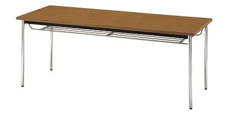 【送料無料】W1800×D750×H700mm 多目的テーブル(棚付)