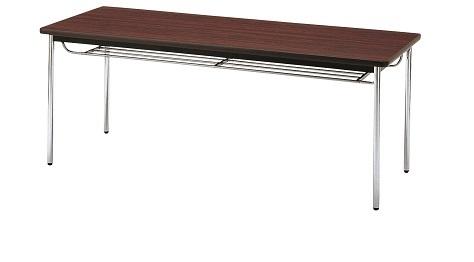 【送料無料】W1800×D450×H700mm 多目的テーブル(ソフト巻・棚付き)