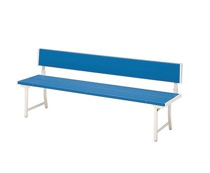 【送料無料】カラーベンチ W1806×D455×H700(SH400)mm(ブルー)