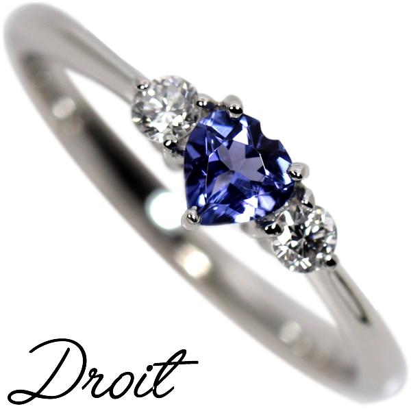 Pt900 タンザナイト×ダイヤモンドリング【Droit】ドロワ プレミアムリング ゾイサイト