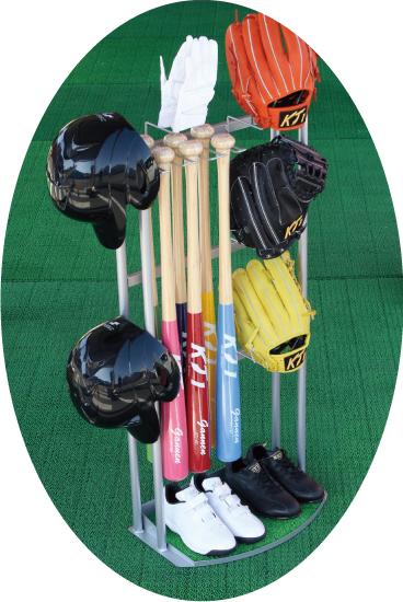 野球道具 ラック 収納 グローブ スタンド 野球 バット スタンド ヘルメット スタンド 野球用品 整理 整頓 玄関 収納 バット立て メット掛け グラブ棚 グローブ ラック 野球 芝生 手袋 乾燥 スパイク ボール 収納ラック 置き場 ソフトボール 少年野球 97251