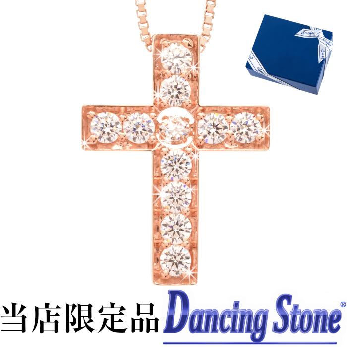 ダンシングストーン ネックレス クロスフォーニューヨーク K18ピンクゴールドコーティング クロス 十字架 揺れる ペンダント 母の日 20代 30代 40代 50代 60代 ファッション 妻 母 祖母 彼女 娘 誕生日 プレゼント 女性 サプライズ