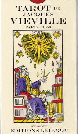 フランス国立図書館に保管されている原版を元に 色あせた部分はより鮮明に 色彩学の伝統に忠実に再現した復刻版 ジャック 永遠の定番モデル ヴィェヴルのタロット Tarot Vieville de 定番スタイル Jacques 44枚letarotヴァージョン
