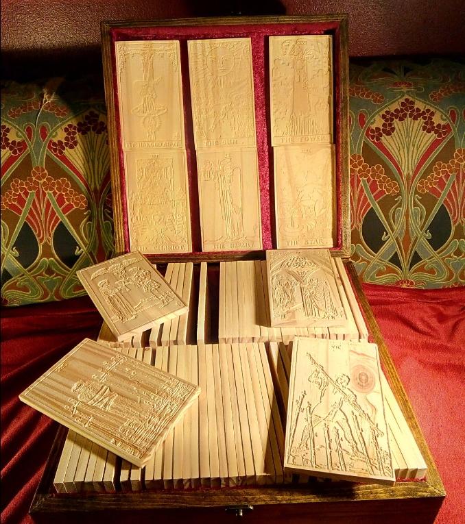 木製タロット78枚セット/WoodTarot78pieces(マホガニー)