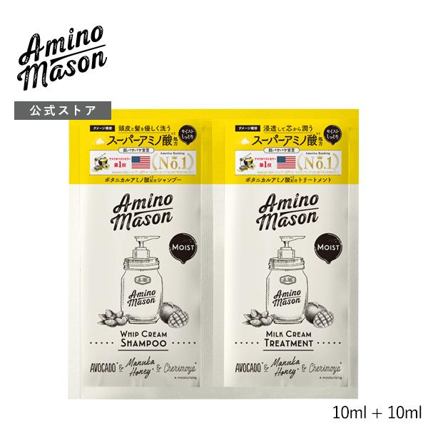 アミノメイソン アミノ酸 シャンプー トリートメント 1DAYトライアル お試し ノンシリコン Amino Mason ヘアケア しっとり さらさら モイスト