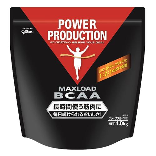 【スーパーDEAL開催中!最大28倍!!】【POWER PRODUCTION】グリコ パワープロダクション MAXLOAD BCAA グレープフルーツ風味 パウダー 1.0kg【dl】STEPSPORTS