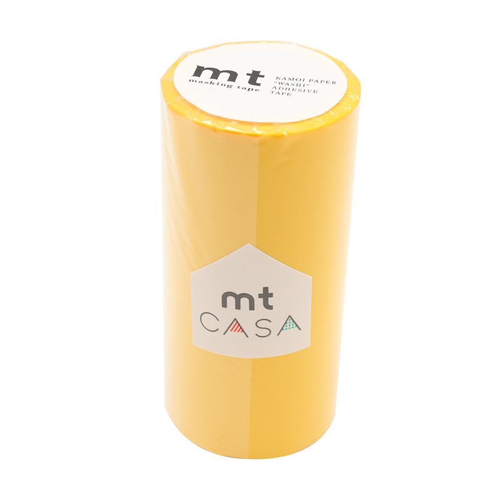インテリア用マスキングテープ 世界の人気ブランド 全国どこでも送料無料 mt CASA マスキングテープ MTCA1091 イエロー 100mm