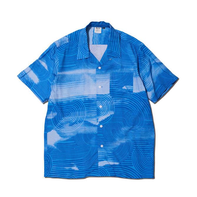 119-023010 / 【2019春夏新作】 / RIPPLE FLOW ALOHA SHIRTS / BLUE / アロハシャツ / AKTR / アクター / メンズ / バスケットボール