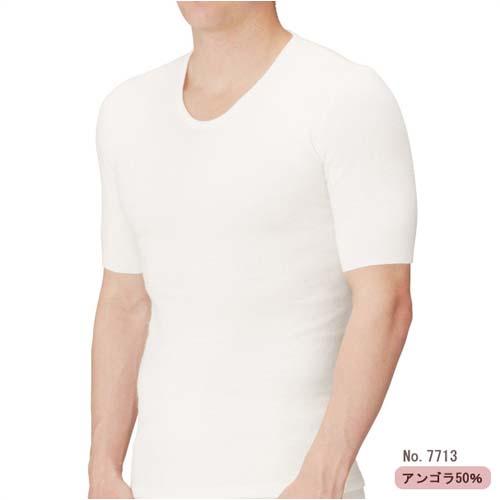 メディマ・アンゴラ50%・メンズ半袖シャツ・ドイツ製(M・Lサイズ)
