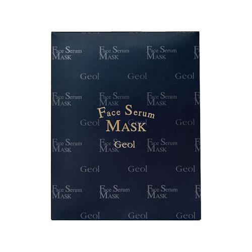 ゲオール化粧品 フェイス セラム マスク(シート状マスク) 30ml(上用マスク1枚、下用マスク1枚入り)×4袋
