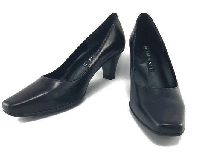 送料無料 NINE DI NINE ナイン ディ ナイン 7000 パンプス 日本製 革靴 3E ヒール高:6.5cm 消音防滑 ビジネス リクルート 冠婚葬祭