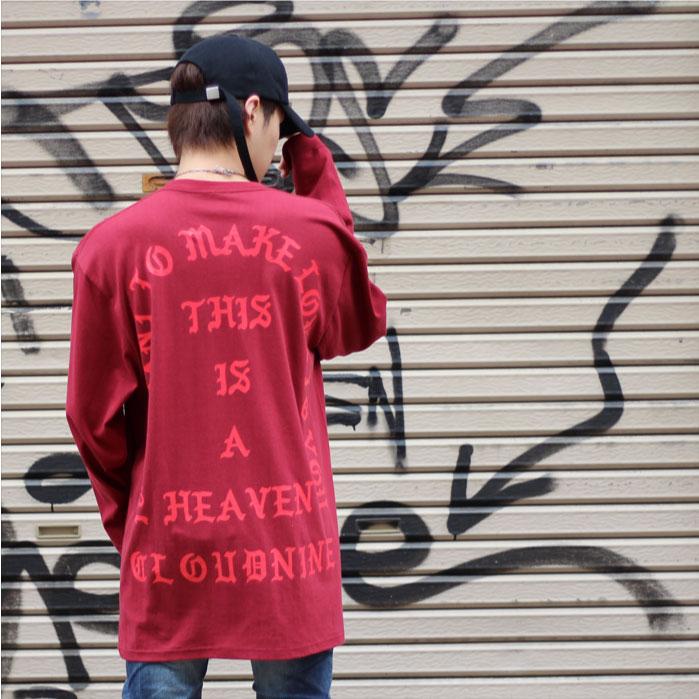 長袖 Tシャツ ロンT ビッグシルエット メンズ レディース ユニセックス 三代目 驚きの価格が実現 登坂 ジャスティンビーバー BIGBANG CLOUD SLEEVE ウエスト NINE クラウドナイン 業界No.1 LONG カニエ 2019-BF1500 CD T-SHIRT HEAVEN
