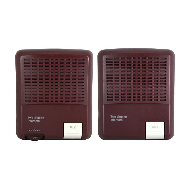 ボタンを押すだけ 離れたお部屋と簡単に通話可能 USB電源 乾電池 期間限定今なら送料無料 で使えるインターホンケーブル式なので通話が確実コード20m 安心の実績 高価 買取 強化中 ブラウン音声モニター機能付きMNIF-20C