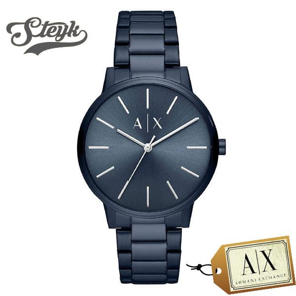 ご購入者様全員に時計拭きプレゼント レビュー投稿で3年保証 豊富な品 Armani Exchange AX2702 お気にいる アルマーニエクスチェンジ アナログ メンズ カジュアル 腕時計 ブルー