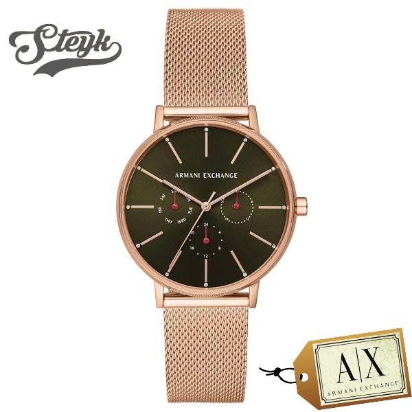 Armani Exchange AX5555 アルマーニエクスチェンジ 腕時計 アナログ LOLA レディース グリーン ゴールド ビジネス