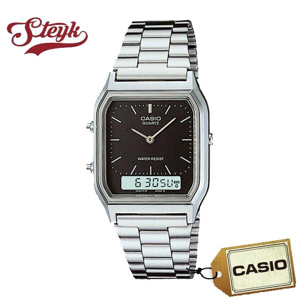 全国一律送料無料 ご購入者様全員に時計拭きプレゼント レビュー投稿で3年保証 店内ポイント最大43倍クーポン配布中 CASIO カシオ 腕時計 豪華な AQ-230A-1 アナデジ