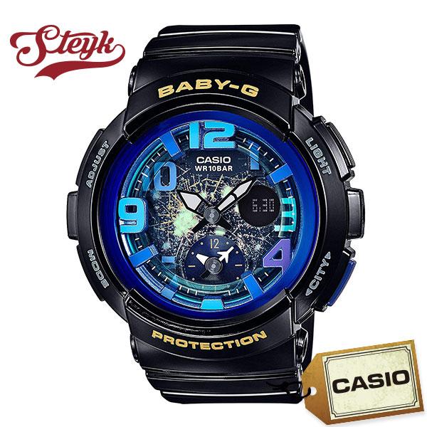 CASIO BGA-190GL-1B カシオ 腕時計 アナログ BABY-G ベビーG レディース ブラック ブルー カジュアル