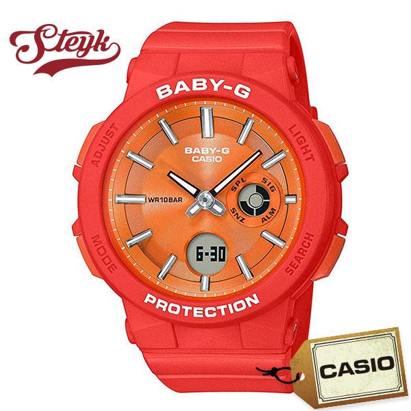 CASIO BGA-255-4A カシオ 腕時計 アナログ BABY-G ベビーG レディース オレンジ カジュアル:STEYK