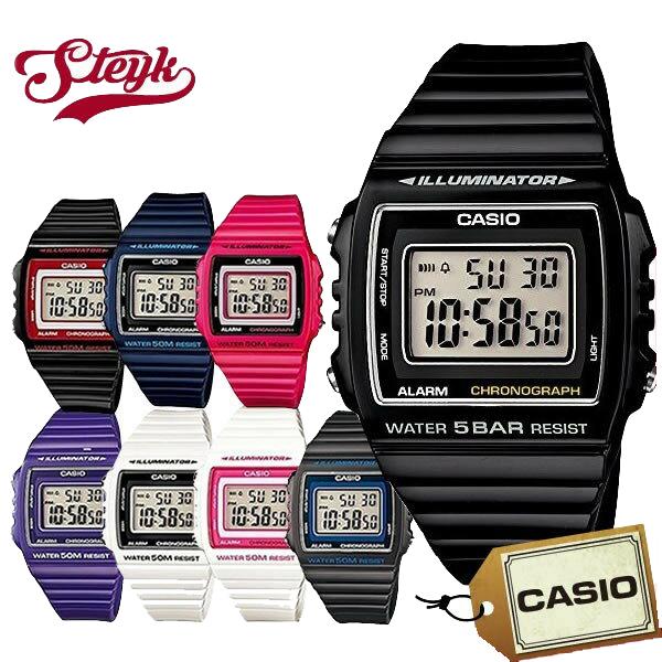 ご購入者様全員に時計拭きプレゼント レビュー投稿で3年保証 日本最大級の品揃え 店内ポイント最大43倍クーポン配布中 CASIO-W-215H カシオ デジタル 腕時計 W-215H 新色追加して再販 メンズ