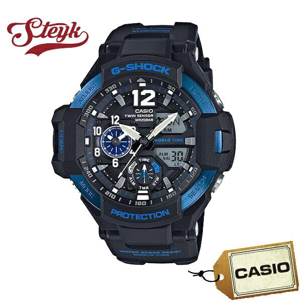 【あす楽対応】CASIO カシオ 腕時計 G-SHOCK ジーショック GRAVITYMASTER グラビティマスター アナデジ GA-1100-2B メンズ【送料無料】