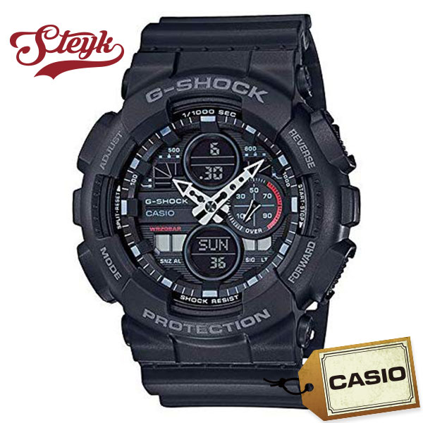 CASIO GA-140-1A1 カシオ 腕時計 アナデジ G-SHOCK Gショック メンズ ブラック カジュアル