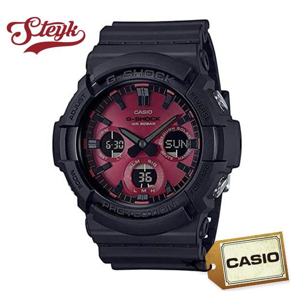 CASIO GAS-100AR-1A カシオ 腕時計 アナデジ G-SHOCK Gショック ソーラー メンズ ブラック レッド カジュアル