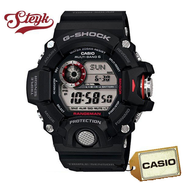 CASIO カシオ G-SHOCK Gショック RANGEMAN レンジマン GW-9400-1 ソーラー電波 デジタル ブラック 黒 black 男性 メンズ 腕時計