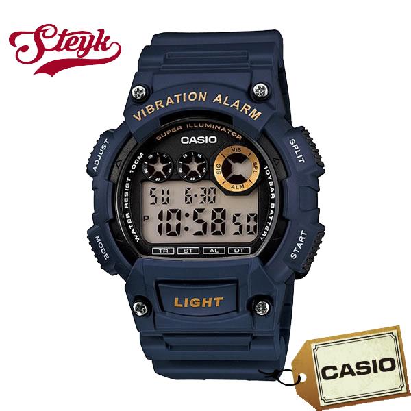 記念日 ご購入者様全員に時計拭きプレゼント レビュー投稿で3年保証 店内ポイント最大43倍クーポン配布中 CASIO カシオ W-735H-2A デジタル 日本限定 チープカシオ 腕時計
