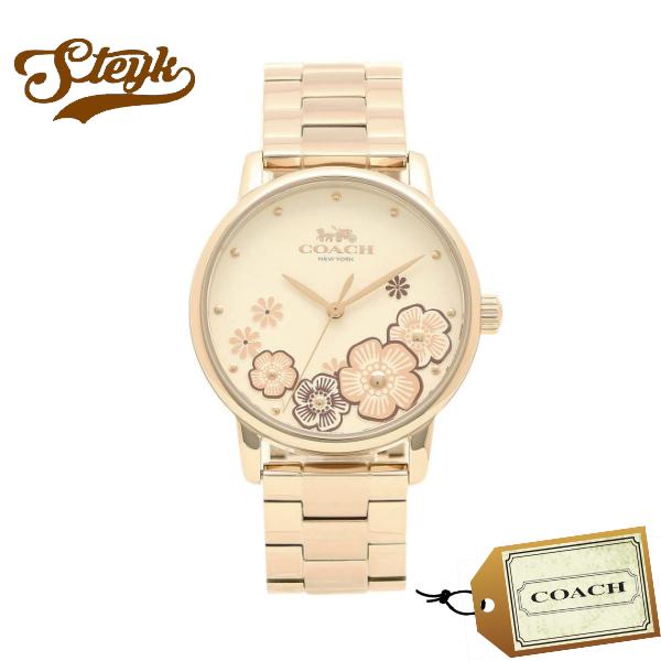 【あす楽対応】COACH コーチ 腕時計 GRAND グランド フラワー アナログ 14503007 レディース【送料無料】