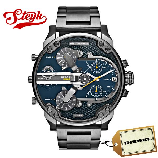 DIESEL DZ7331 ディーゼル 腕時計 アナログ Mr Daddy ミスターダディー メンズ ネイビー ガンメタル カジュアル