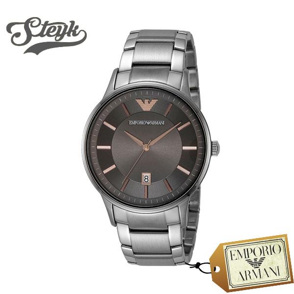 Emporio Armani エンポリオアルマーニ 腕時計 AR11179 アナログ Renato メンズ グレー ビジネス