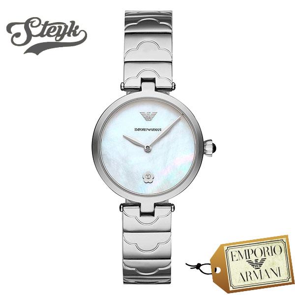 Emporio Armani AR11235 エンポリオアルマーニ 腕時計 アナログ ARIANNA レディース ホワイト シルバー ビジネス カジュアル