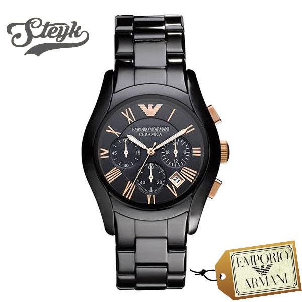 Emporio Armani AR1410 エンポリオアルマーニ 腕時計 アナログ CERAMICA セラミカ メンズ ブラック カジュアル
