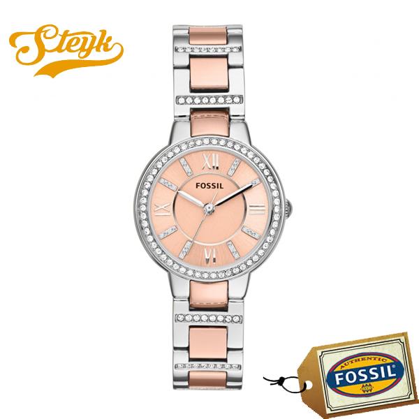FOSSIL ES3405 フォッシル 腕時計 アナログ レディース ピンク ローズゴールド シルバー カジュアル