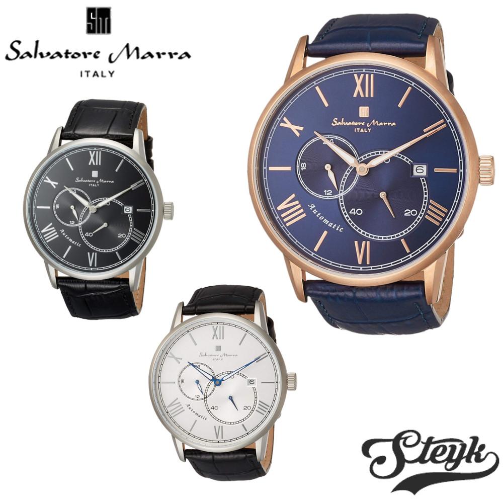 【あす楽対応】Salvatore Marra サルバトーレマーラ 腕時計 アナログ 自動巻き オートマチック スモールセコンド SM18104-SSBL・SM18104-SSSV・SM18104-SSBK・SM18104-PGBL・SM18104-PGSV・SM18104-PGBK メンズ【送料無料】
