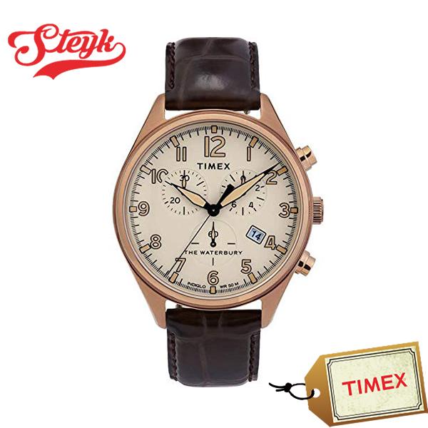 TIMEX TW2R88300 タイメックス 腕時計 アナログ WATERBURY ウォーターベリー メンズ アイボリー ブラウン カジュアル