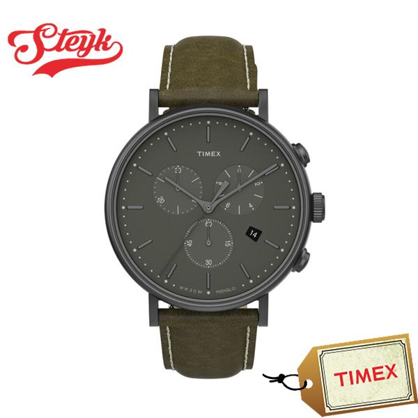 TIMEX TW2T67600 タイメックス 腕時計 アナログ フェアフィールド メンズ カーキ ブラウン モスグリーン カジュアル