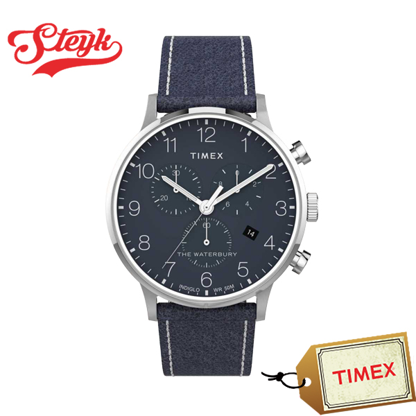 TIMEX TW2T71300 タイメックス 腕時計 アナログ フェアフィールド メンズ ネイビー シルバー カジュアル
