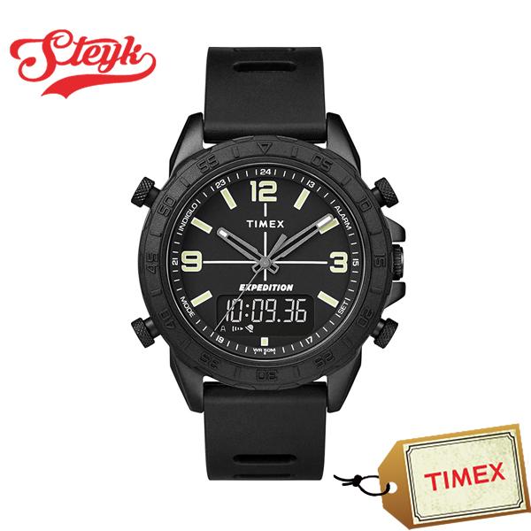 10日23 59まで 店内ポイント最大46倍 TIMEX TW4B17000 タイメックス 腕時計 アナデジ Expedition エクスペディション メンズ ブラック カジュアルzMqVpUS