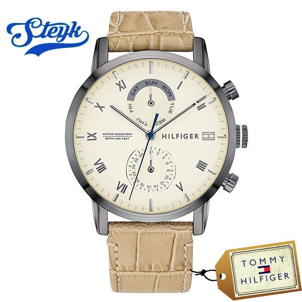Tommy Hilfiger 1710399 トミーヒルフィガー 腕時計 アナログ Multi-function メンズ ホワイト ブラウン カジュアル