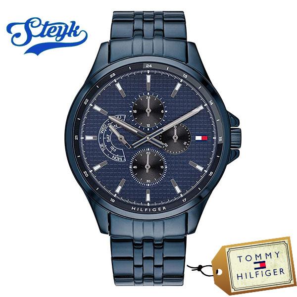 ご購入者様全員に時計拭きプレゼント レビュー投稿で3年保証 Tommy Hilfiger 1791618 トミーヒルフィガー 腕時計 Multi-function ブルー [ギフト/プレゼント/ご褒美] マルチファンクション カジュアル 格安 アナログ メンズ