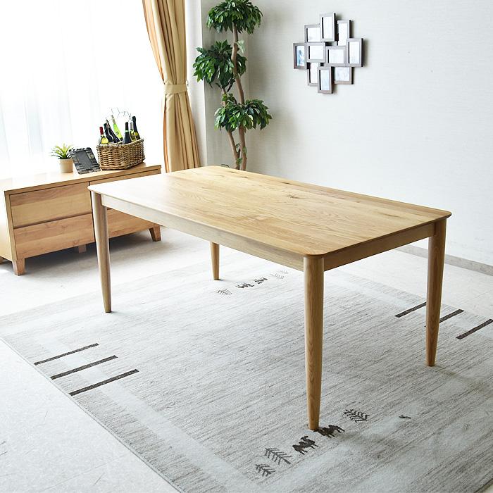 【大注目】 【送料無料】ダイニングテーブル 幅165 木製 幅165 6人用 木製 オーク無垢 テーブル 食卓 テーブル ダイニング家具, スニーカーケース:60b9508f --- canoncity.azurewebsites.net