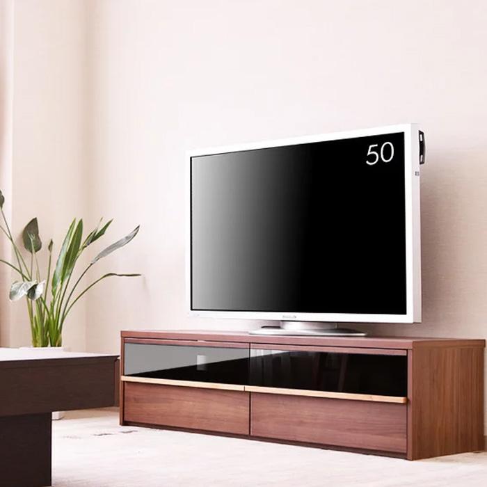 【送料無料】テレビボード 幅150cm TVボード ウォールナット チェリー テレビ台 リビング リビングボード 大型 ロータイプ TV台 AVボード AV収納 家具通販 大川の家具