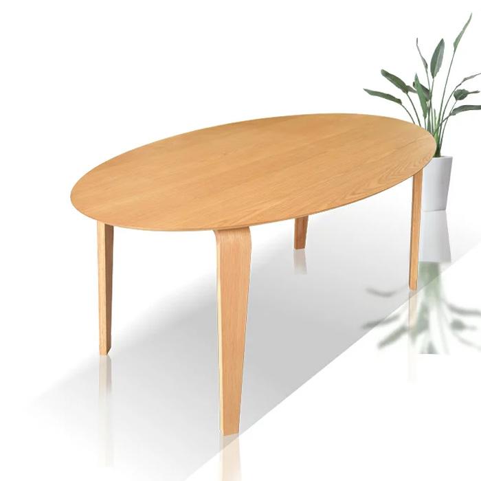 ダイニングテーブル 幅180 木製 ホワイトオーク 楕円テーブル テーブル 食卓 ダイニング