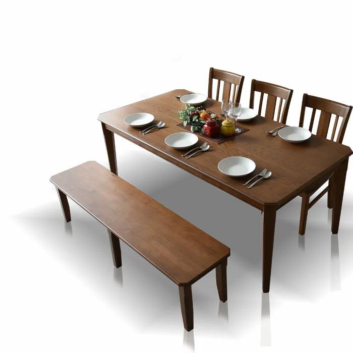 【送料無料】ダイニングテーブルセット 180cm ダイニングセット ダイニング5点セット 6人掛け ダイニングチェア ダイニングテーブル 食卓 食卓セット テーブル チェア 椅子 イス シンプル レトロテイスト 板座面 PVC座面